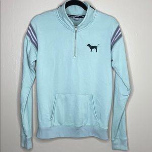 PINK half zip up jacket with pocket